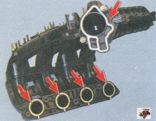 уплотнительные прокладки впускного коллектора Лада Приора ВАЗ 2170