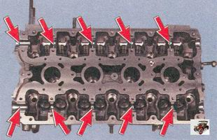 опоры распредвалов в головке блока цилиндров Лада Приора ВАЗ 2170