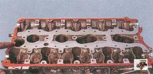 места нанесения герметика на поверхность головки блока цилиндров