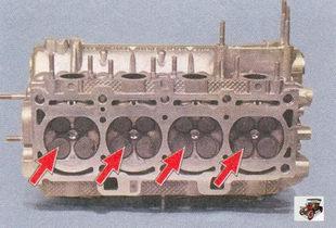камеры сгорания головки блока цилиндров Лада Приора ВАЗ 2170