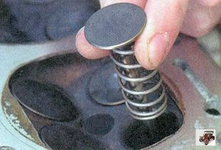 подготовка к притирке клапана