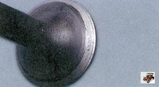 внешний осмотр притертого клапана