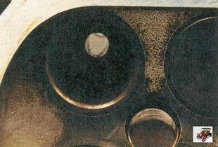 внешний осмотр притертого седла клапана