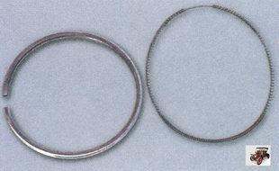 сломанные поршневые кольца и расширитель маслосъемного кольца