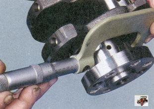 проверка диаметра коренных и шатунных шеек коленчатого вала Лада Приора ВАЗ 2170