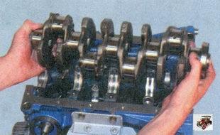 установка коленвала в блок цилиндров Лада Приора ВАЗ 2170