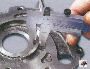 измерение ширина сегмента корпуса масляного насоса