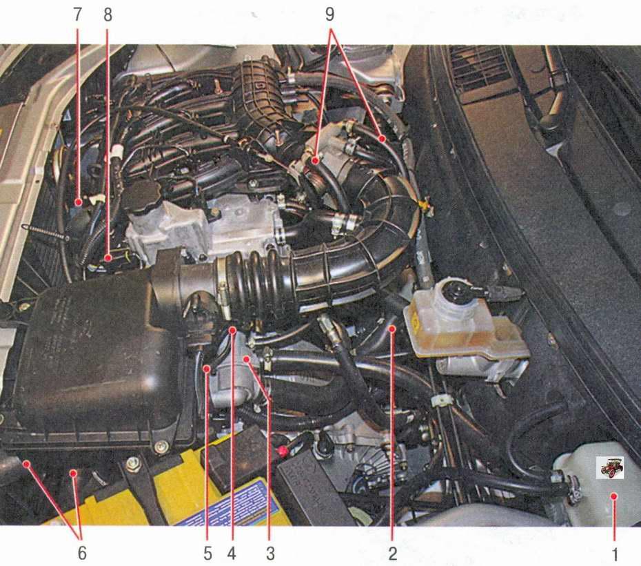 расположение элементов системы охлаждения двигателя Лада Приора ВАЗ 2170