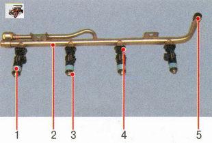 топливная рампа и форсунки Лада Приора ВАЗ 2170