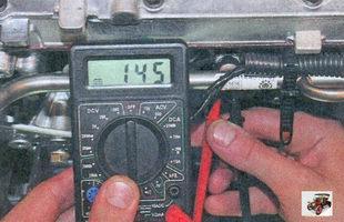 проверка сопротивления обмоток форсунок Лада Приора ВАЗ 2170