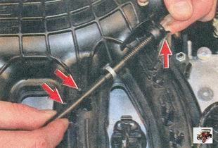 держатели троса привода дроссельной заслонки Лада Приора ВАЗ 2170