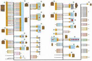 схема соединения заднего жгута проводов автомобиля лада приора ваз 2170