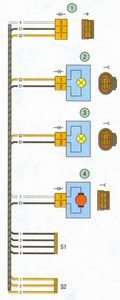 схема соединения жгута проводов фонарей освещения номерного знака автомобиля лада приора ваз 2170