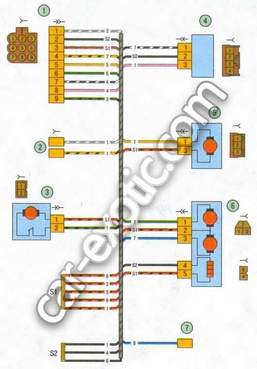 Эл схемы подключения генераторов ваз 2104.