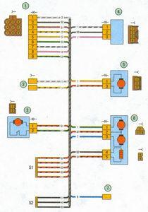схема соединения жгута проводов правой передней двери автомобиль лада приора ваз 2170