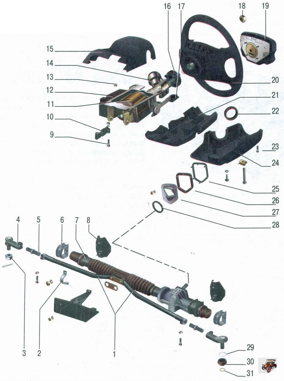 Устройство...  Рулевое управление lada priora травмобезопасное, с реечным рулевым механизмом, электроусилителем...