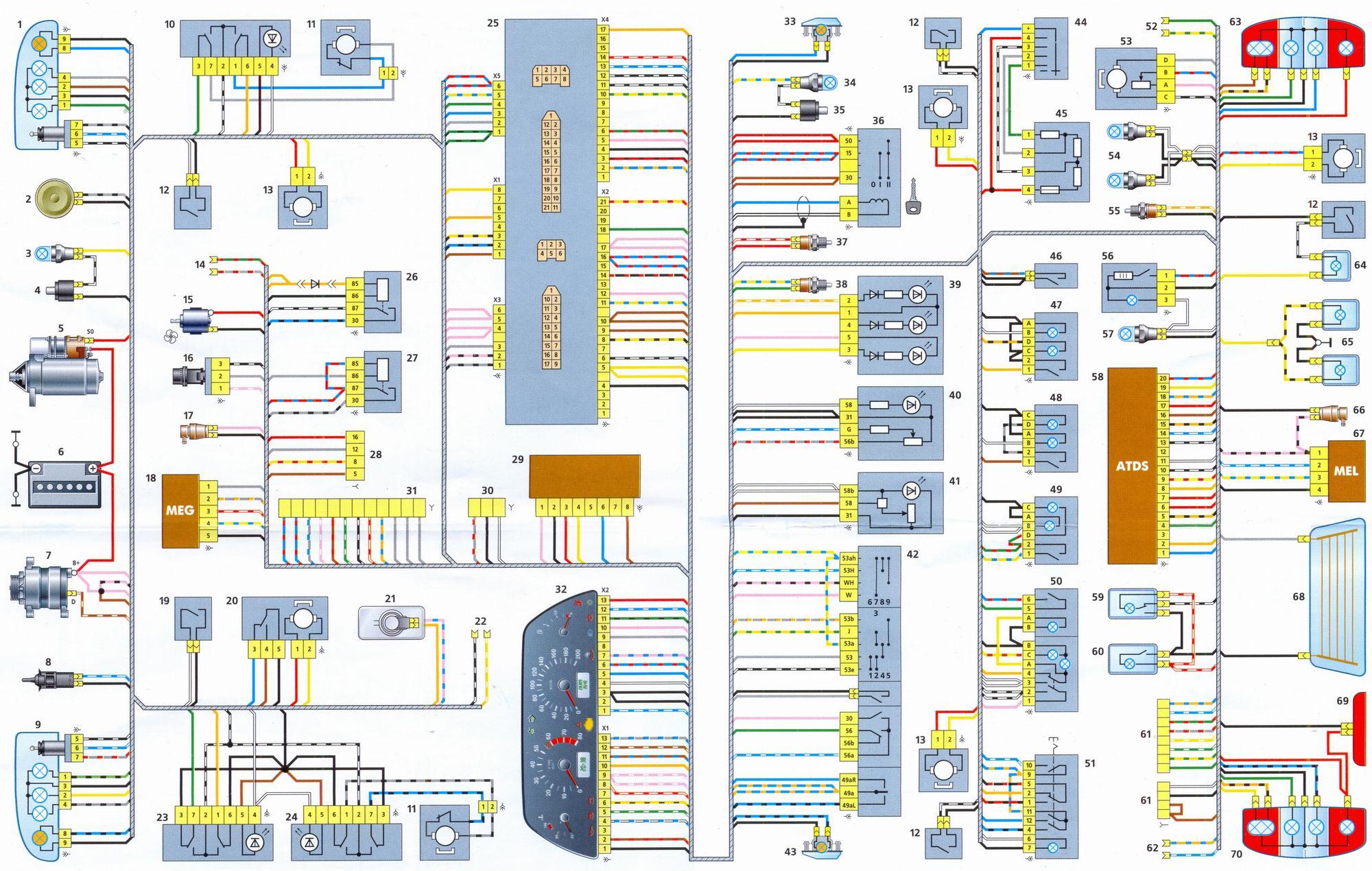 Схема электрооборудования шевроле нива (Chevrolet Niva)Схема электрооборудования шевроле нива (Chevrolet Niva)...