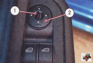 блок управления зеркалами с электроприводом