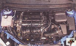 осмотрите двигатель и подкапотное пространство