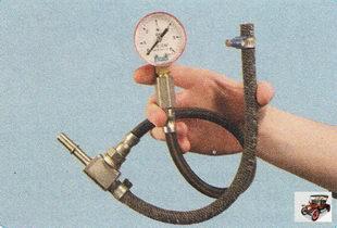 проверка давления топлива в топливной рампе двигателя