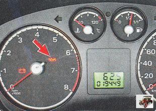 сигнальная лампа низкого давления масла в двигателе