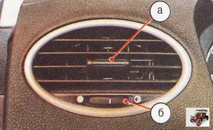 боковые сопла системы вентиляции и отопления салона