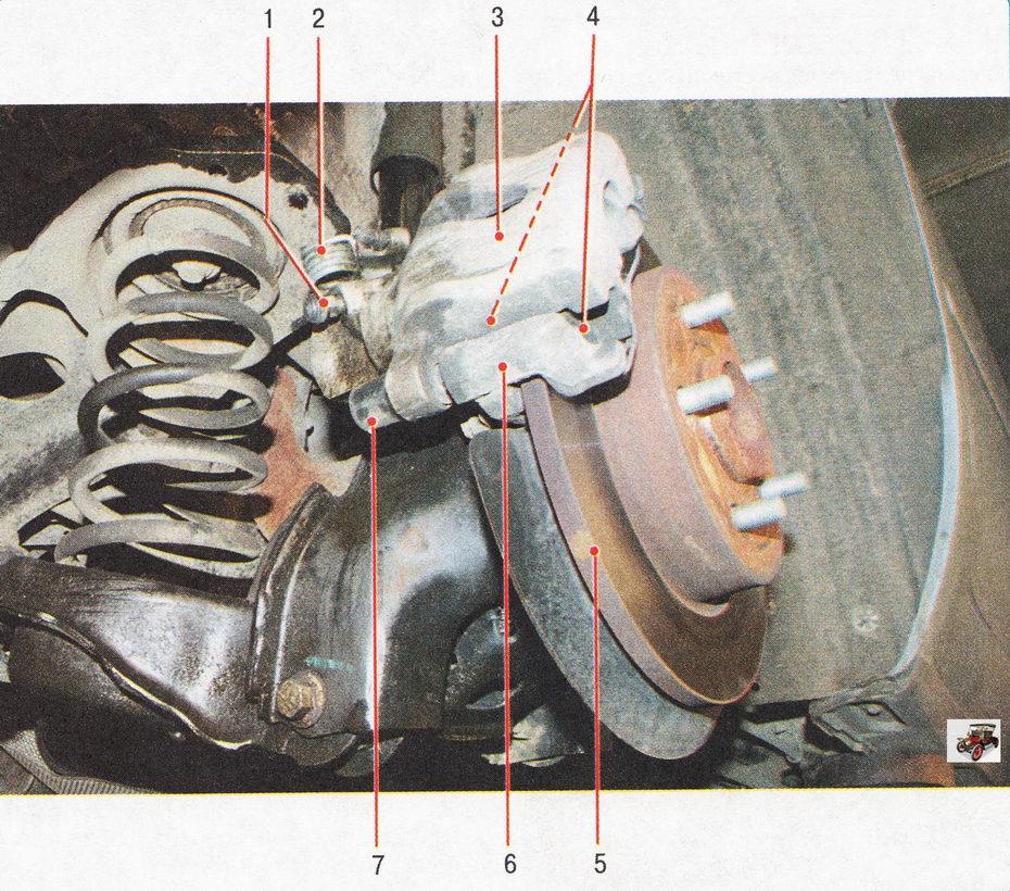 Дисковый тормозной механизм заднего колеса автомобиль Форд Фокус 2