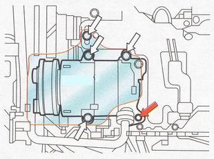 Крепление компрессора кондиционера Форд Фокус 2