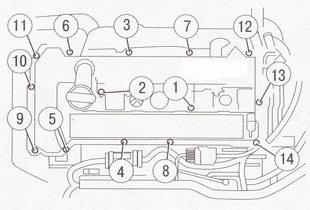Крепление крышки головки блока цилиндров Форд Фокус 2