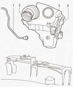 Снятие воздушного фильтра Форд Фокус 2