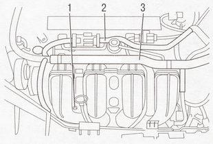 Крепление деталей к впускному трубопроводу