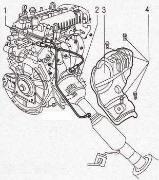 Снятие и установка катколлектора Форд Фокус 2