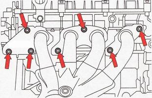 Крепление катколлектора к головке блока цилиндров Форд Фокус 2