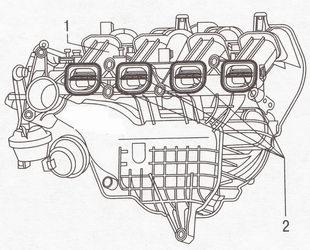 Вихревые заслонки впускного трубопровода Форд Фокус 2