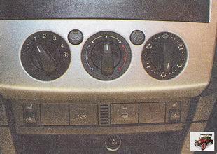 блок управления системой отопления (кондиционирования) и вентиляции салона