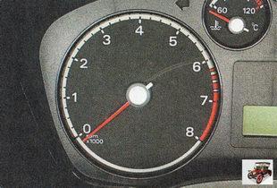 тахометр электронного типа показывает частоту вращения коленвала двигателя
