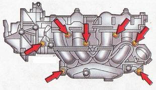 Болты крепления впускной трубы глушителя Форд Фокус 2
