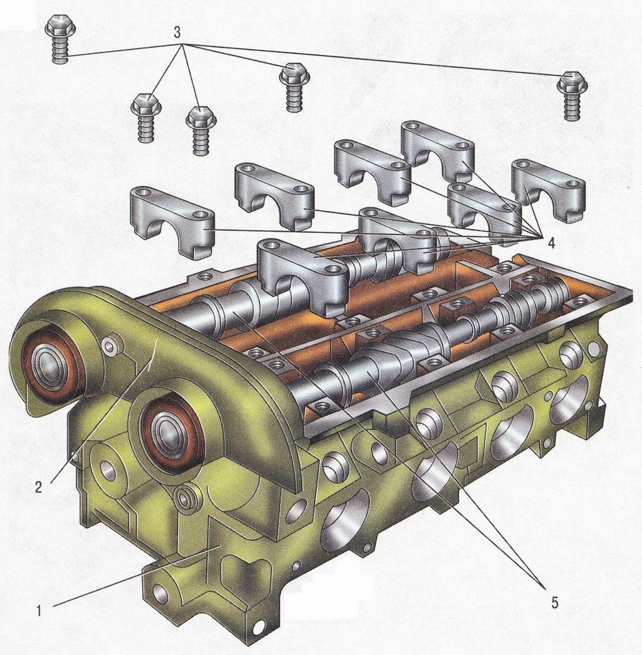 Снятие распределительных валов Форд Фокус 2