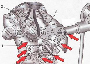 Крепление масляного насоса и маслоприемника Форд Фокус 2