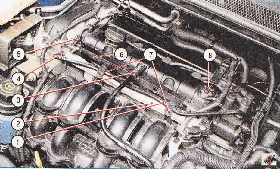 Установка топливной рампы на двигателе Форд Фокус 2