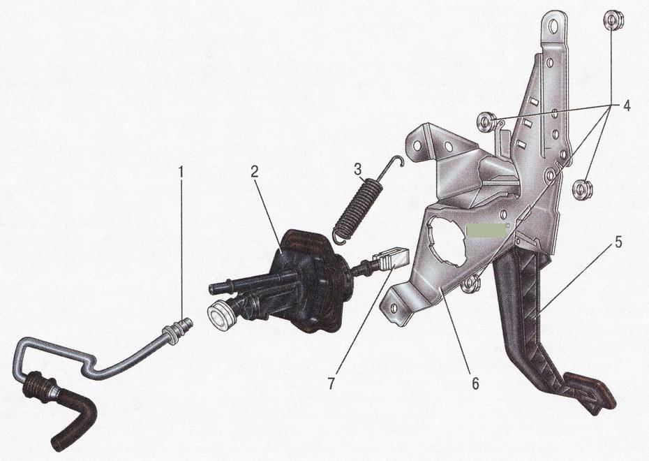 Гидравлический привод выключения сцепления Форд Фокус 2