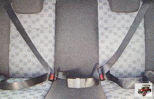 для среднего пассажира заднего сиденья предусмотрен только поясной статический (неинерционный) ремень