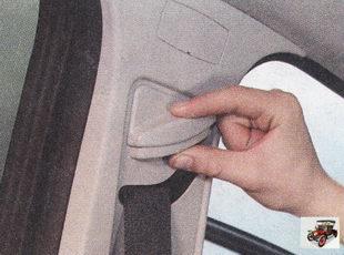 регулировка передних ремней безопасности по высоте