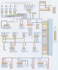 электрическая схема системы управления двигателем с контроллером январь-5.1.3 ваз 2107