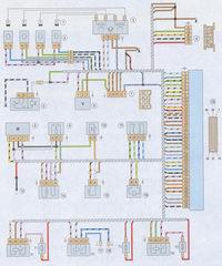 электрическая схема системы управления двигателем с контроллером М 1.5.4N ваз 2107