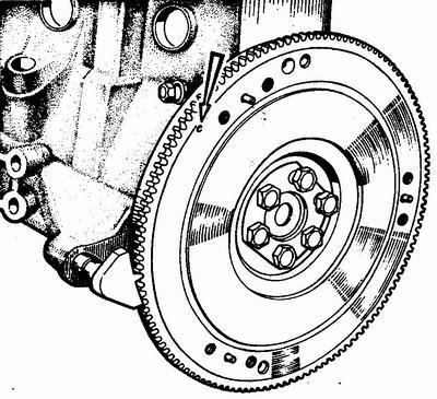 блокировка  маховика двигателя ваз 2112