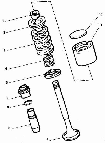 механизм привода клапанов ваз 2110, ваз 2111