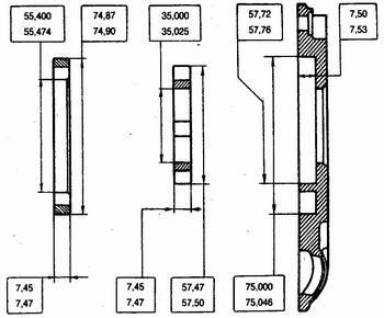 основные размеры новых деталей масляного насоса ваз 2110-ваз 2111-ваз 2112