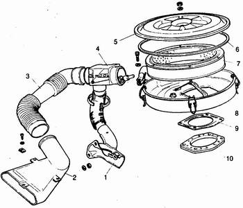 воздушный фильтр и терморегулятор ваз 2110-ваз 2111-ваз 2112