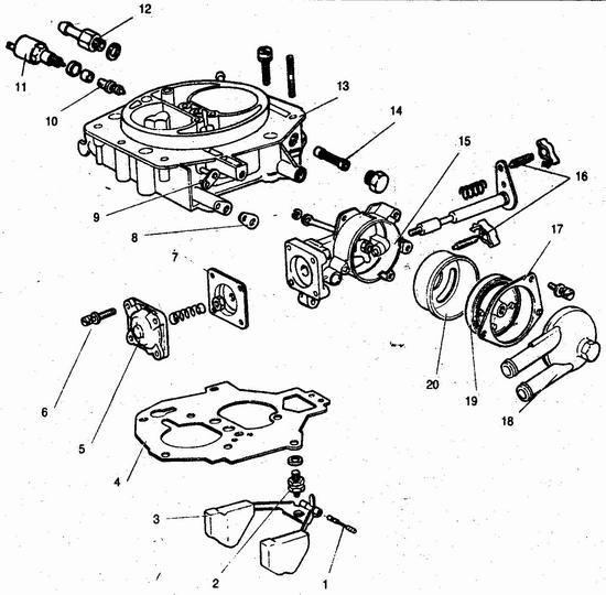 детали крышки карбюратора 21083